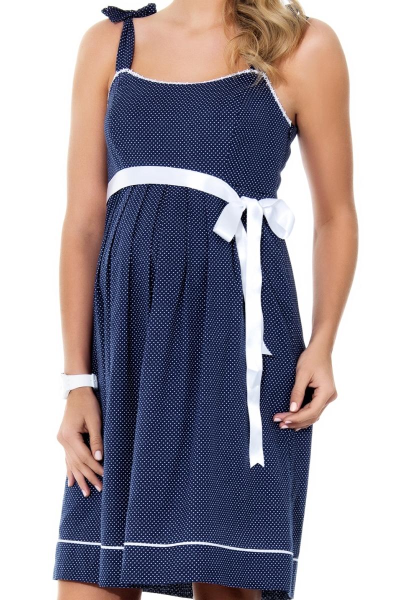 Платье для беременных 05544 синий