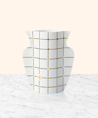 Двухсторонняя бумажная ваза LIDO WHITE мини