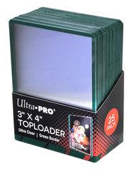 Ultra Pro - Жесткие прозрачные протекторы с зелеными краями (toploader)