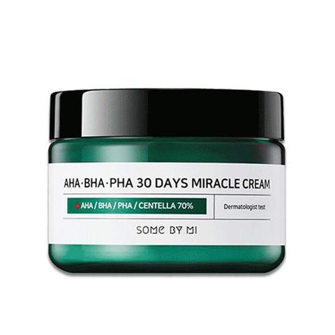Some By Mi AHA-BHA-PHA 30 Days Miracle Cream - Крем для проблемной кожи с AHA BHA PHA кислотами 60г