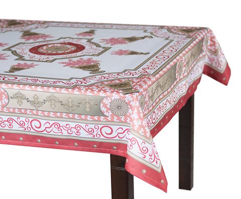 Скатерть 140x220 Blonder Home Rosetta розовая