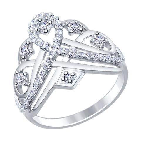 Кольцо из серебра с фианитами от SOKOLOV арт.94012242