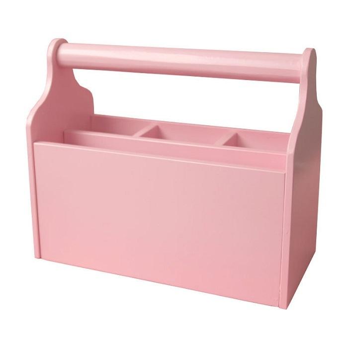 Розовая карандашница