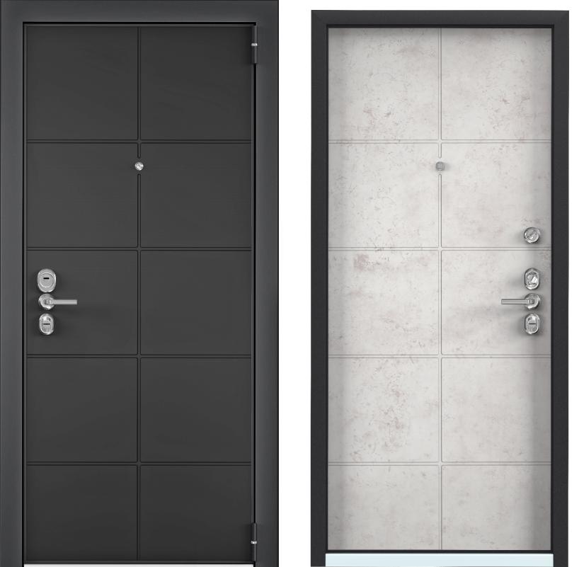 Входные двери с шумоизоляцией Torex Ultimatum Next NT-1 графит матовый NT-1 бетон светлый ultimatum-next-nt-1-st-grafit-beton-bel.png