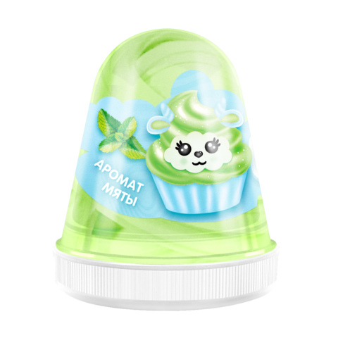 Слайм MONSTER'S SLIME FL012 Fluffy Мята зеленый