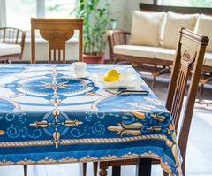 Скатерть 140x180 Blonder Home Raymond синяя