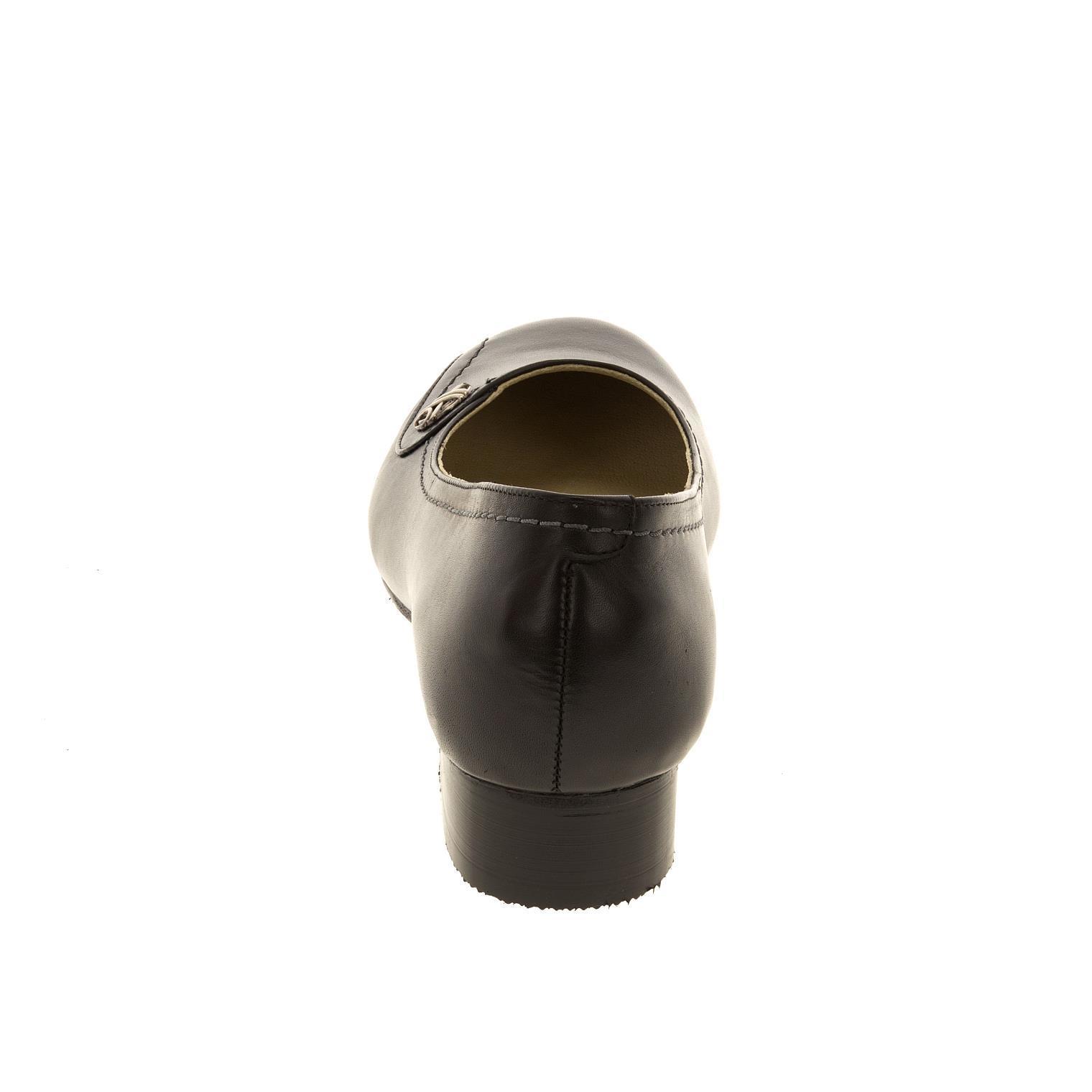 628268 Туфли женские черные больших размеров марки Делфино