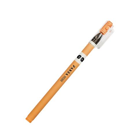 Ручка черная гелевая Panda Orange
