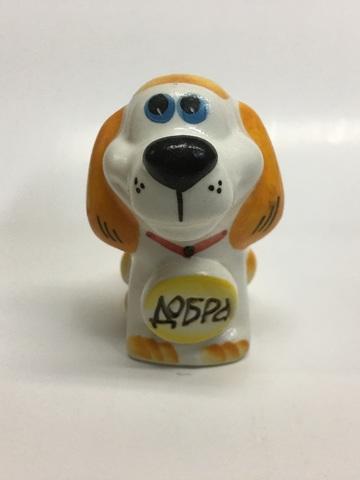 Собака с медалью пожеланием Добра