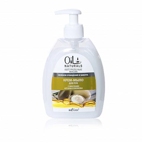 Белита Oil Naturals Крем-мыло для рук с маслами арганы и жожоба Нежное очищение и забота 400мл