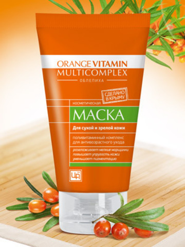 "Маска для лица с пастой облепихи ""Orange Vitamin Multicomplex"""