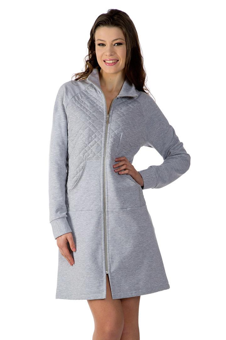 Теплый халат на молнии DolceVita (Женские халаты)