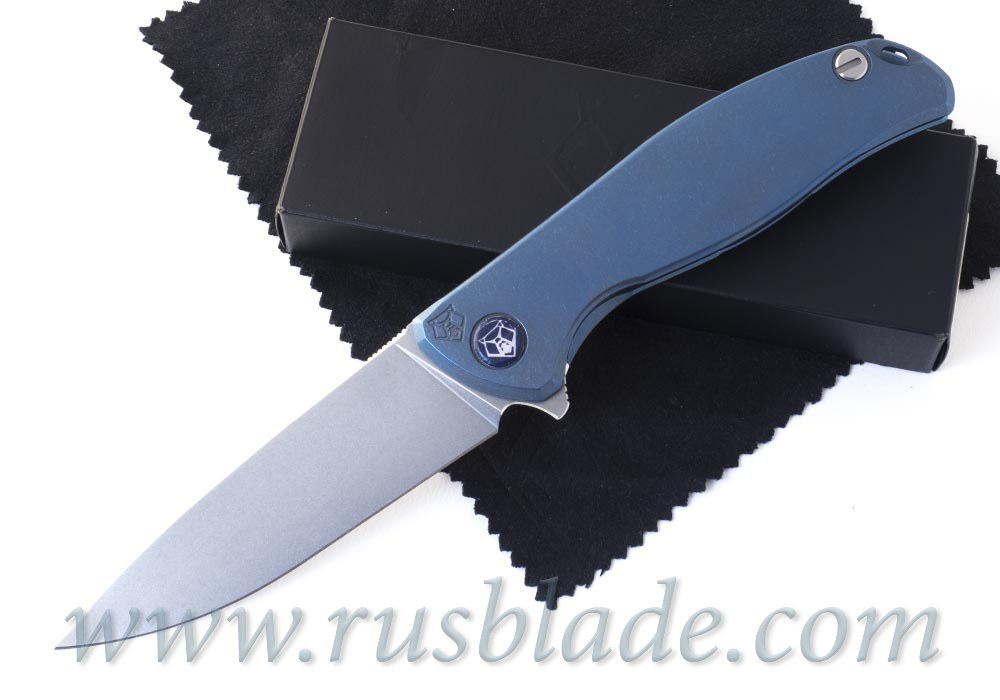Shirogorov F95 М390 FS Nudist Blue Anodizing