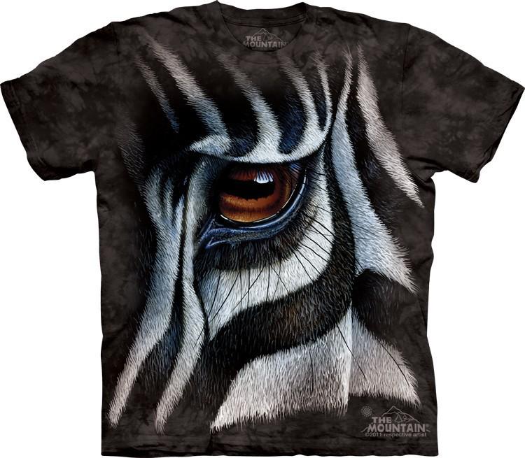Футболка Mountain с изображением зебры - Zebra Eye