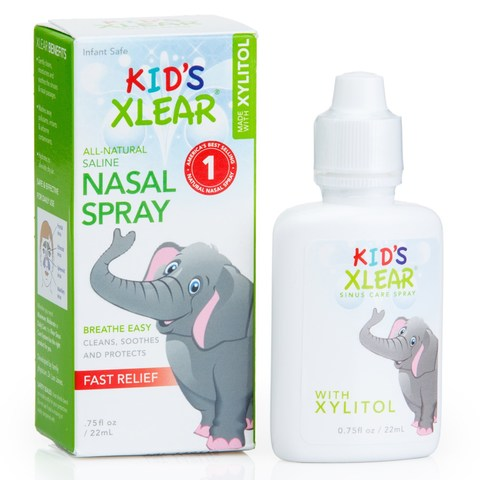 Xlear, Kid's Xlear, соляной раствор, спрей для носа, 22 мл