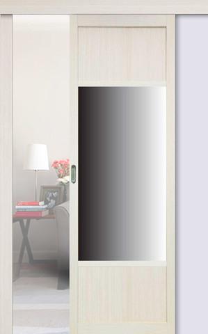 Перегородка межкомнатная Optima Porte 131.111 зеркало, цвет беленый дуб, глухая (за 1 кв.м)