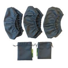 Бахилы детские серые 23-34 размер (с мешочком)