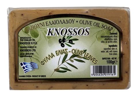 Натуральное мыло с оливковыми листьями и оливковым маслом Knossos 100 гр