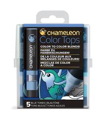 Набор цветовых блендеров Chameleon Color Tones Blue Tones, голубые тона, 5 шт.