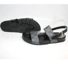 Мужские босоножки Louis Vuitton 1008 01Blak.
