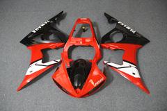 Комплект пластика для мотоцикла Yamaha YZF-R6 03-04 Красно-Черный