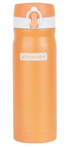Термос-кружка Kamille 450 мл. оранжевый