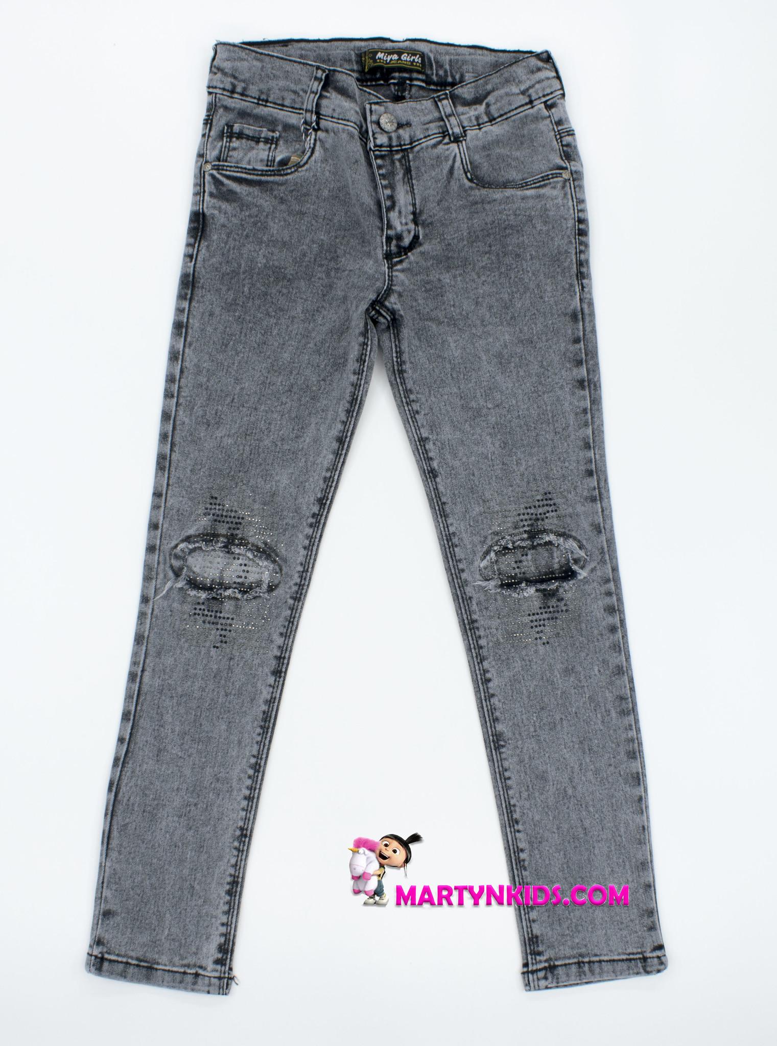 2371  джинсы блеск коленки