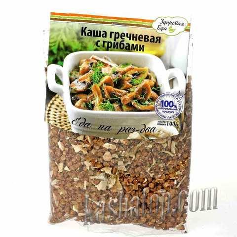 Каша гречневая с грибами 'Здоровая еда'