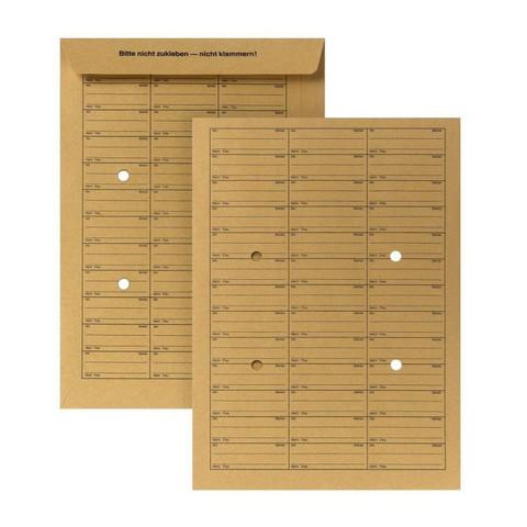 Пакеты в упаковке внутренней почты C4,крафт,110г/м2,без клея,25шт/уп