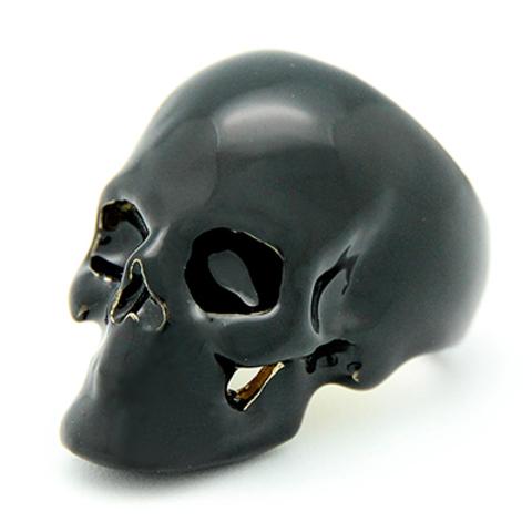 Кольцо Череп (черный)