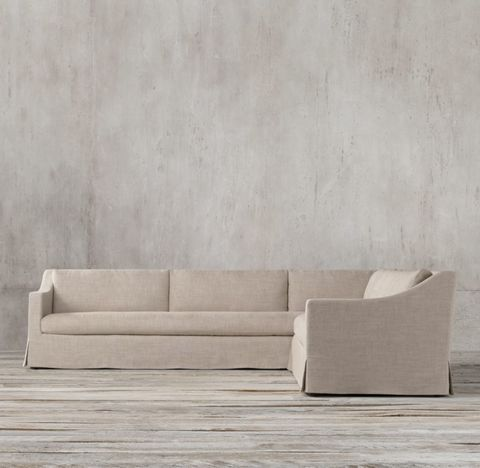 Belgian Classic Slope Arm Slipcovered Right-Arm L-Sectional