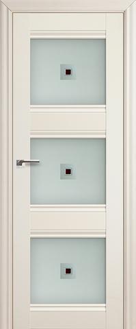 Дверь Profil Doors №4Х, стекло узор, цвет эш вайт, остекленная
