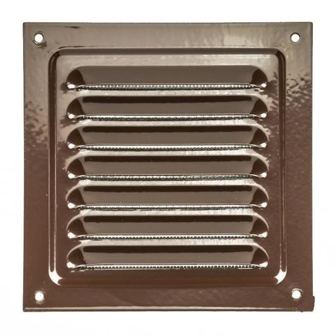 Решетка металлическая коричневая 150х150мм 1515МЭ