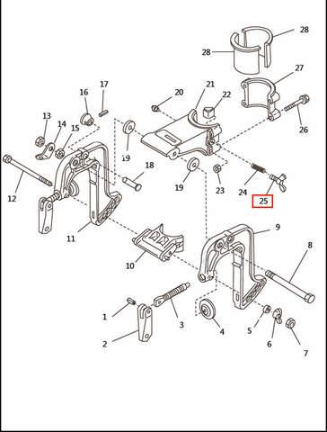 Болт фиксации дейдвуда  для лодочного мотора T2,5 SEA-PRO (6-25)