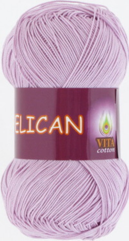 Пряжа Pelican (Vita cotton) 3968 Светло-сиреневый