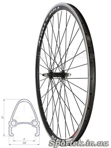 Переднее велосипедное колесо 28 дюймов с двойным алюминиевым ободом