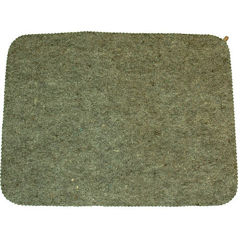 Коврик для бани войлочный серый