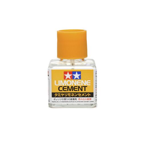 Tamiya Cement Limonene Клей с запахом лимона, с кисточкой 40 мл