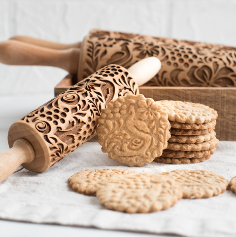 Birds of paradise - kids engraved rolling pin