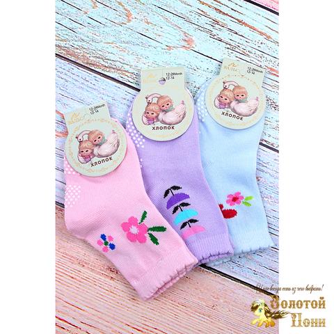Носочки с тормозами для девочки (0-24) 190325-ТР7294