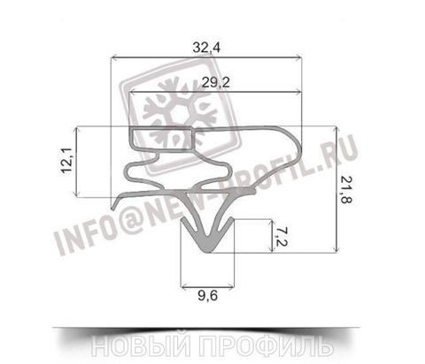 Уплотнитель 161*37 см для холодильника Samsung RSA1NHWP1/BWT (однокамерный) Профиль 003 АНАЛОГ