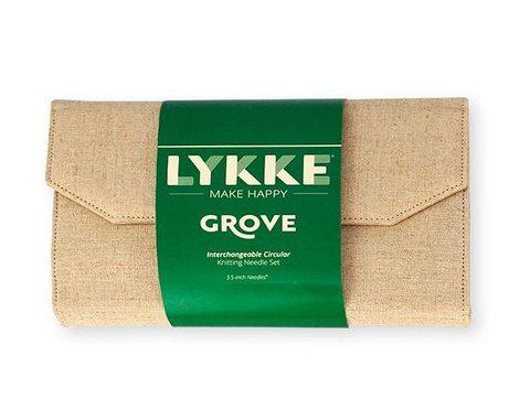 Набор укороченных бамбуковых разъемных спиц Lykke Grove Beige 7 см