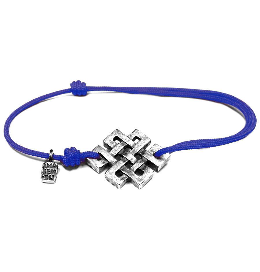 Endless Knot Bracelet, sterling silver