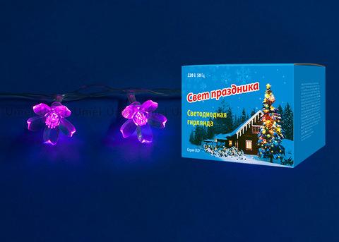 ULD-S0700-050/DTA PINK IP20 PINK SAKURA Гирлянда светодиодная с контроллером «Сакура розовая», 50 светодиодов, 7 м, розовая,IP20,провод прозрачный