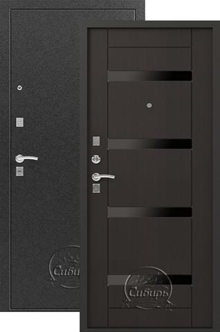 Дверь входная Сибирь S-5, 2 замка, 1,5 мм  металл, (серебро+венге)