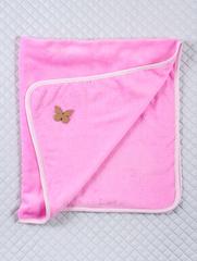 Махровый плед (розовый), Размер 115*90 см