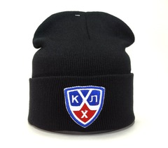 Вязаная шапка хоккей КХЛ  (KHL) черная