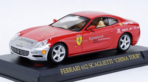 Ferrari 612 Scaglietti China Tour 2005 red 1:43 Eaglemoss Ferrari Collection #58