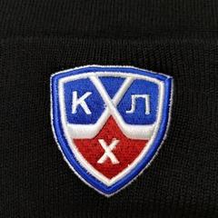 Вязаная шапка хоккей КХЛ  (KHL) черная фото 2