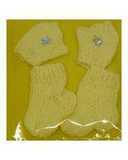 Комплект носки+варежки - Желтый. Одежда для кукол, пупсов и мягких игрушек.